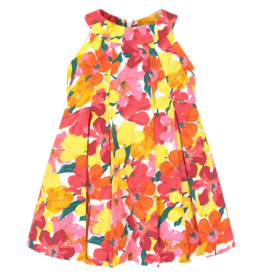 Mayoral Mayoral dress Flowers  Coral