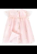 Tartine et Chocolat Tartine Dress Pink Tulle Embroidered