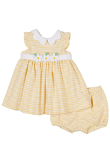 Florence Eiseman FE Dress Yellow Stripes Flowers with Bloomer 73428 S19