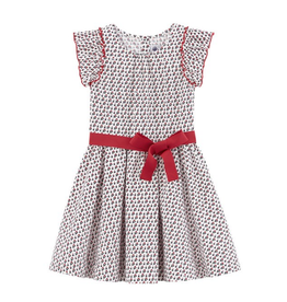 Petit Bateau PB Red Bow Dress