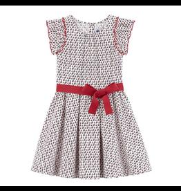 Petit Bateau Petit Bateau Red Bow Dress
