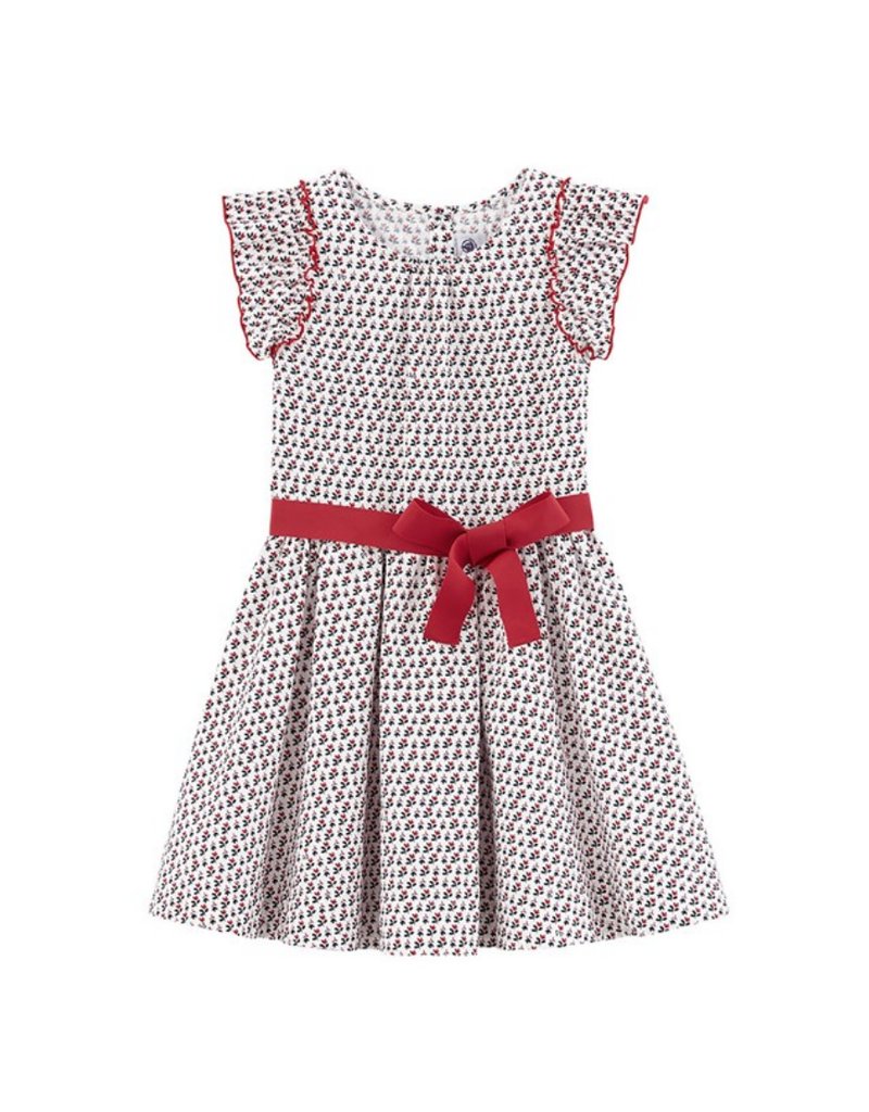 Petit Bateau PB Dress Red Bow 47172 S19