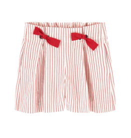 Jean Bourget JB  Candy Red Striped Shorts