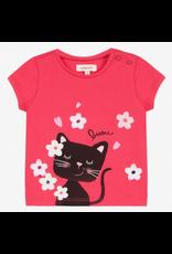 Catimini CAT Tshirt Pink bisou cat CN10113 S19