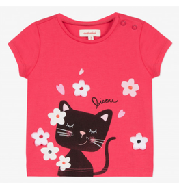 Catimini CAT Tshirt Pink bisou cat
