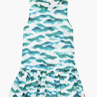 Jean Bourget Jean Bourget Sleeveless Dress Ocean