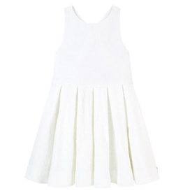 Lili Gaufrette Lili Gaufrette Gripper Dress- White