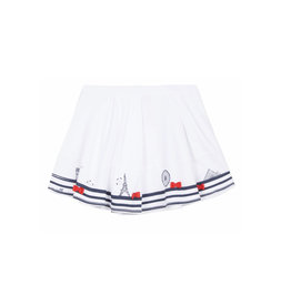 Lili Gaufrette Lili Gaufrette Paris Glint Skirt - White
