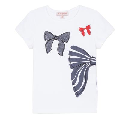 Lili Gaufrette Lili Gaufrette Gollier Bow T-shirt white/navy
