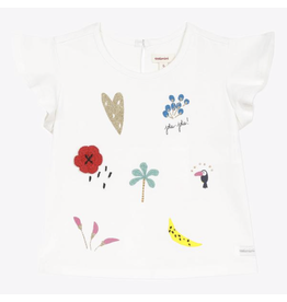 Catimini Catimini Gold Heart T-shirt - White
