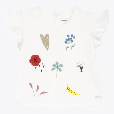 Catimini Catimini Gold Heart T-shirt - White