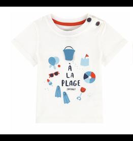 Jean Bourget Jean Bourget A La Plage T-shirt - White