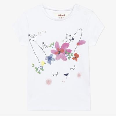 Catimini Catimini Bunny T-shirt - White