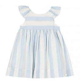 Tartine et Chocolat Tartine Striped Soleil Dress Blue Azur