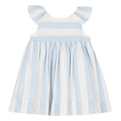 Tartine et Chocolat Tartine et Chocolat Striped Soleil Dress Blue Azur