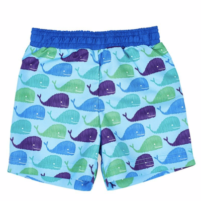 Florence Eiseman Florence Eiseman Whale Swim Trunks - Blue
