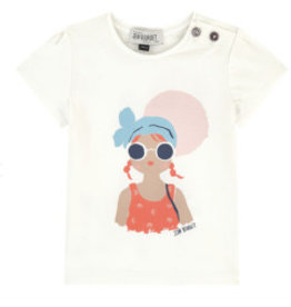 Jean Bourget Jean Bourget Cap Sleeve Beach Girl T-shirt