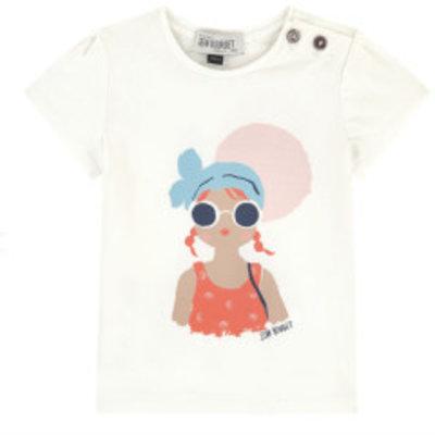 Jean Bourget Jean Bourget Cap Sleeve Beach Girl T-shirt