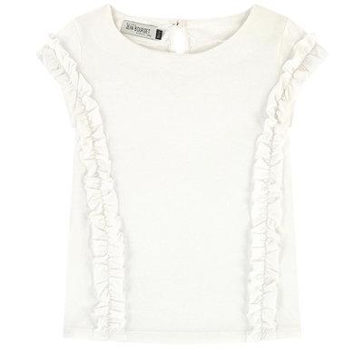 Jean Bourget Jean Bourget ruffle T-shirt white