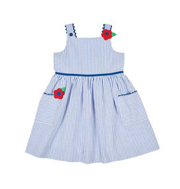 Florence Eiseman Florence Eiseman Seersucker dress Stripe Blue