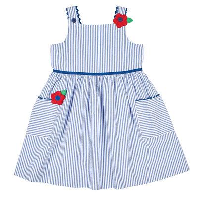 Florence Eiseman Florence Eiseman Seersucker dress Stripe Blue