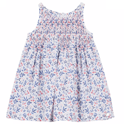 Tartine et Chocolat Tartine smocked dress blue/red