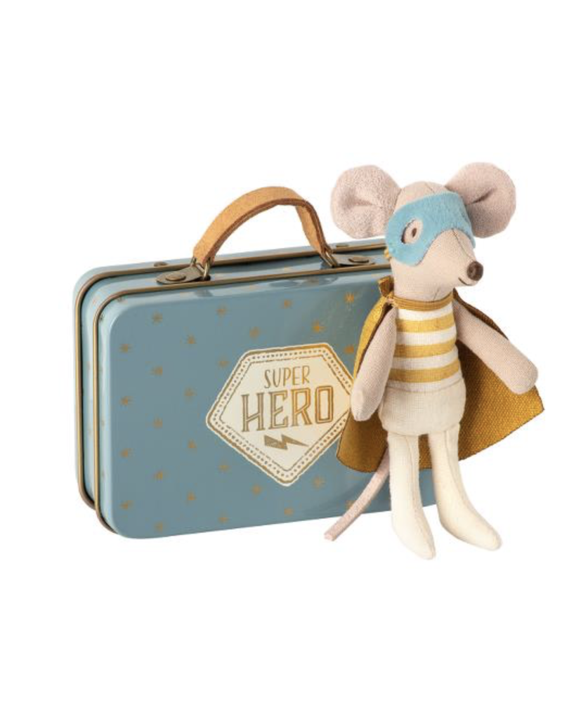Maileg Maileg Super Hero Mouse In Suitcase