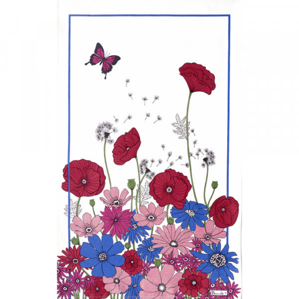 Beauville Beauville Teatowel Coquelicot