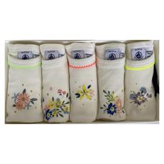 Petit Bateau Petit Bateaul floral set/5 bodysuits white multi
