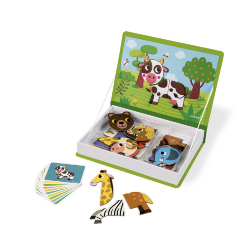 Janod Janod Magnetic Book Animals