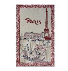 Beauville Beauville Dishtowel Toits de Paris Red