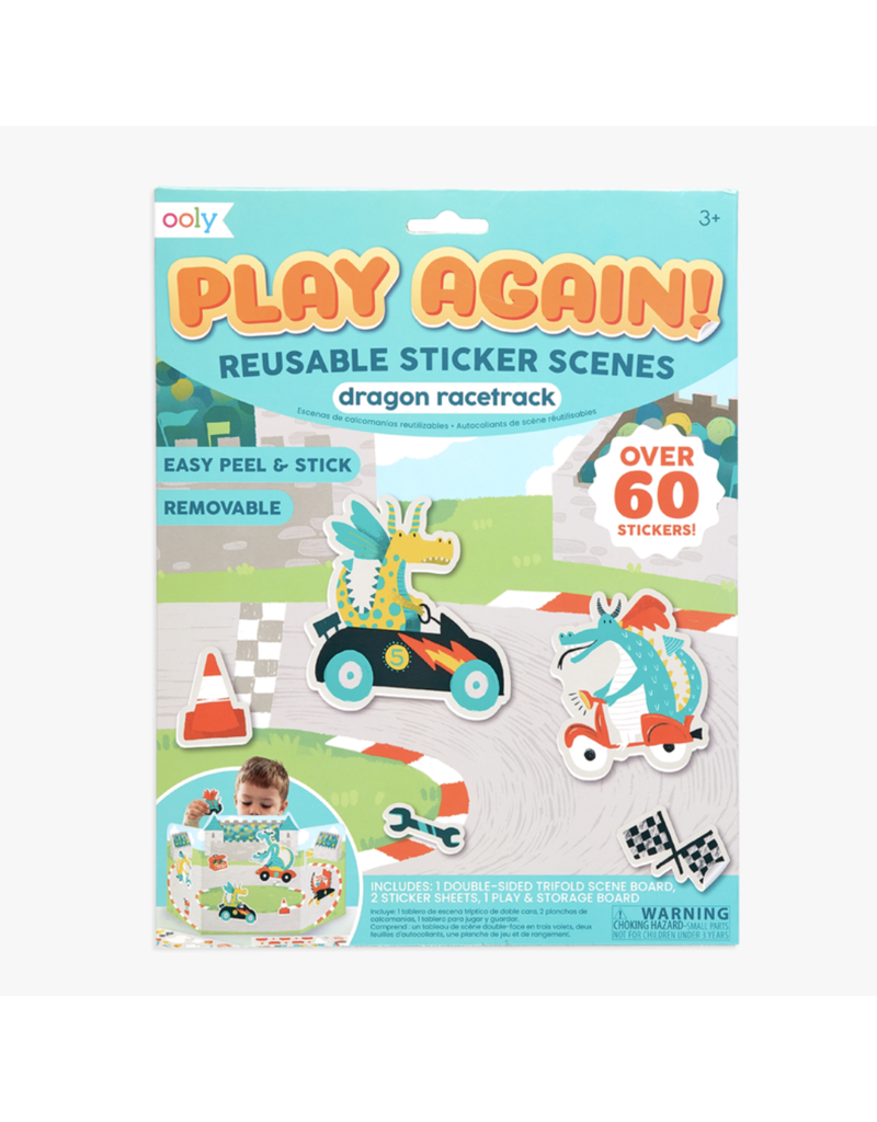 Ooly Ooly Sticker Scenes Dragon Racetrack