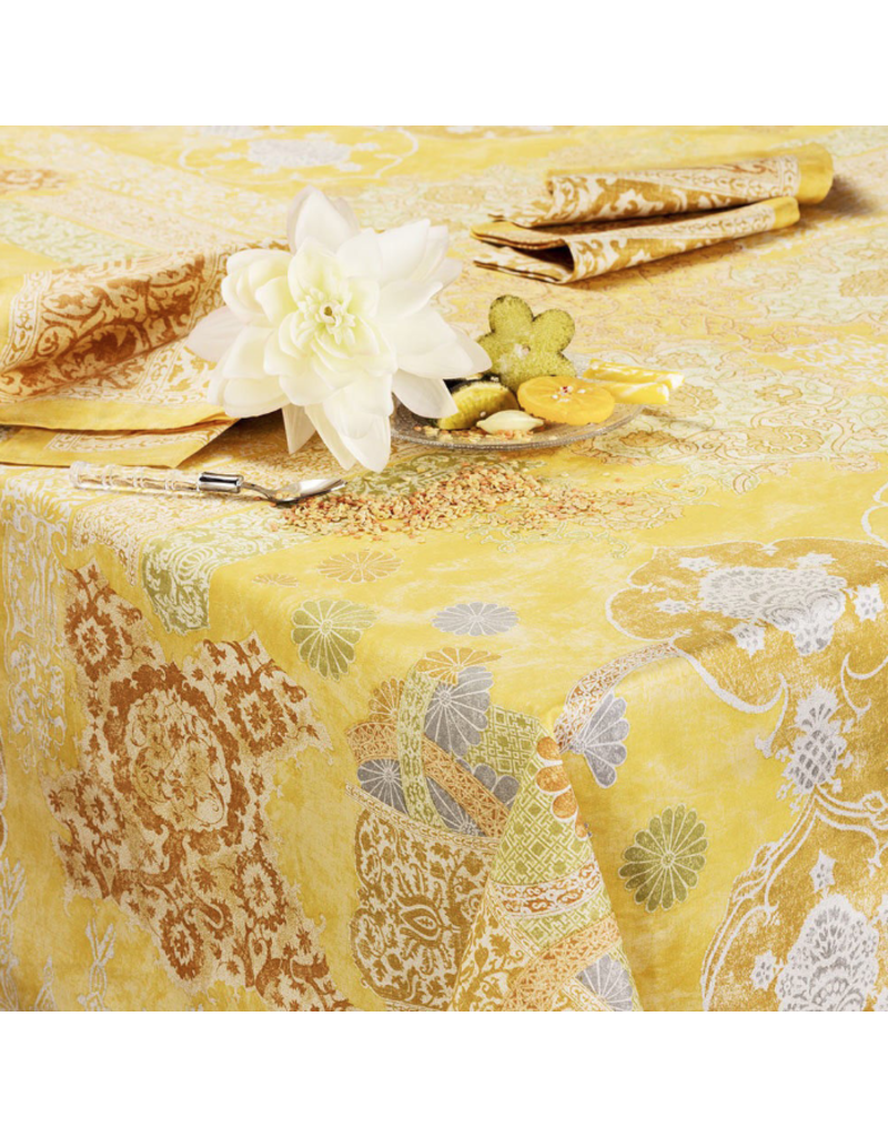 "Beauville Beauville Tablecloth Rialto 67""x95"" Yellow"