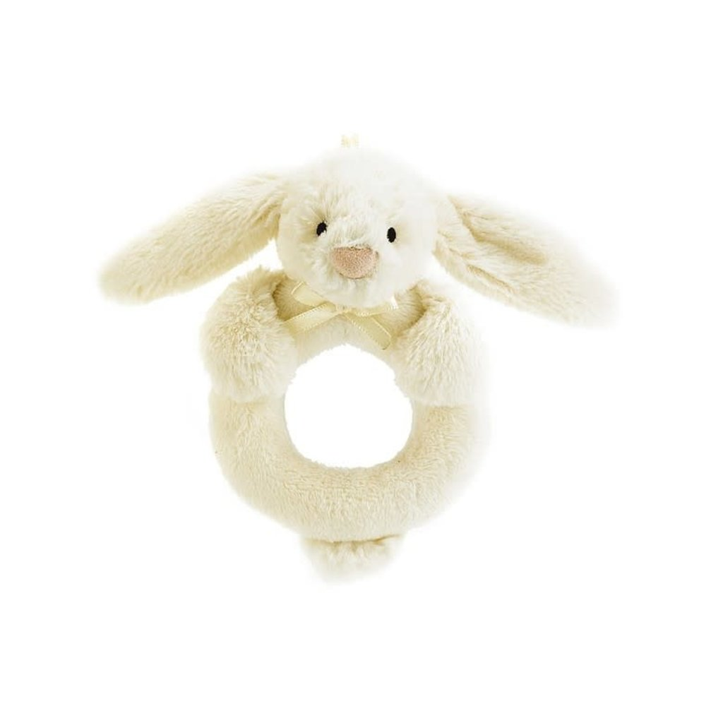 Jellycat Jellycat Bashful Cream Bunny Ring Rattle
