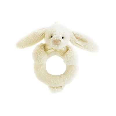 Jellycat Jellycat Bashful Cream Bunny Ring Rattle