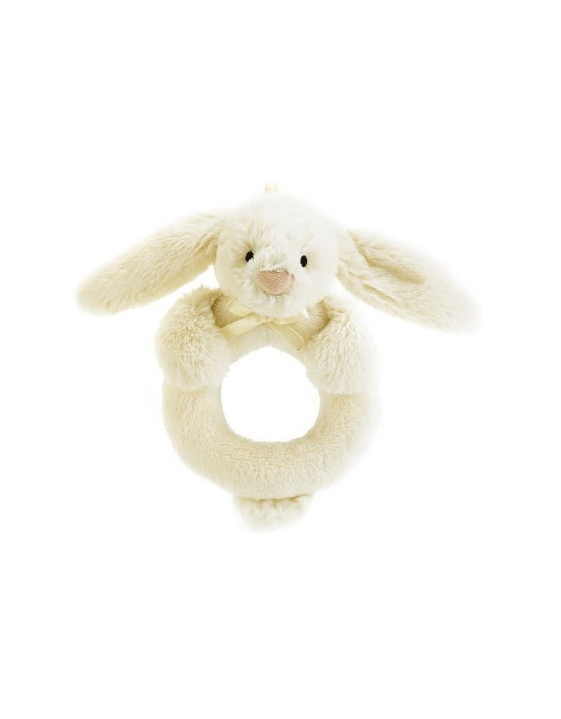 Jellycat JC Bashful Cream Bunny Ring Rattle