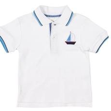 Florence Eiseman Florence Eiseman Sailboat Knit Polo Shirt
