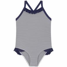 Petit Bateau Petit Bateau Swimsuit Girl Navy Stripe