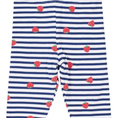 Florence Eiseman Florence Eiseman Strawberry Stripe Capris Navy/White