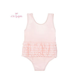 Lili Gaufrette LiliG Pink Swimsuit with Ruffles
