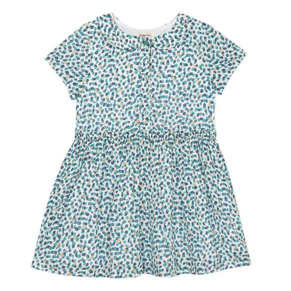 Catimini Catimini dots dress multi green