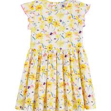 Petit Bateau Petit Bateau floral multi dress yellow