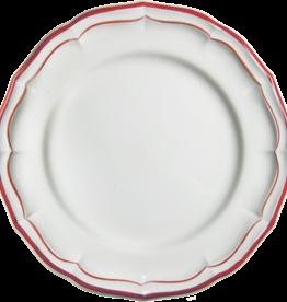 Gien Filet Rouge Dinner Plate