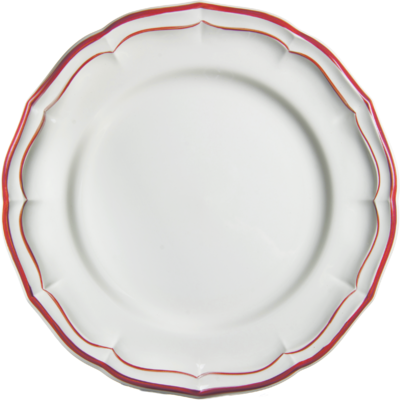 Gien Filet Rouge Dinner Plate