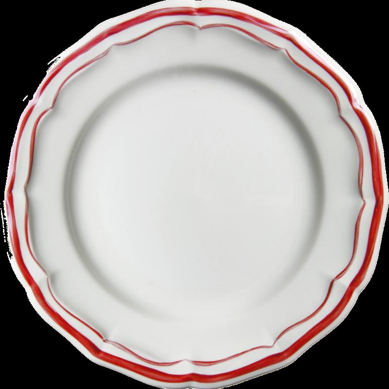 Gien Filet Rouge Dessert plate