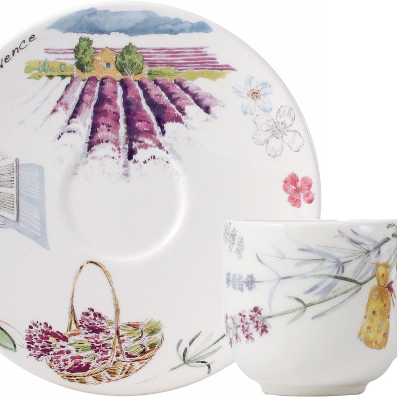 Gien Gien Set of two Breakfast cups and saucers Provence