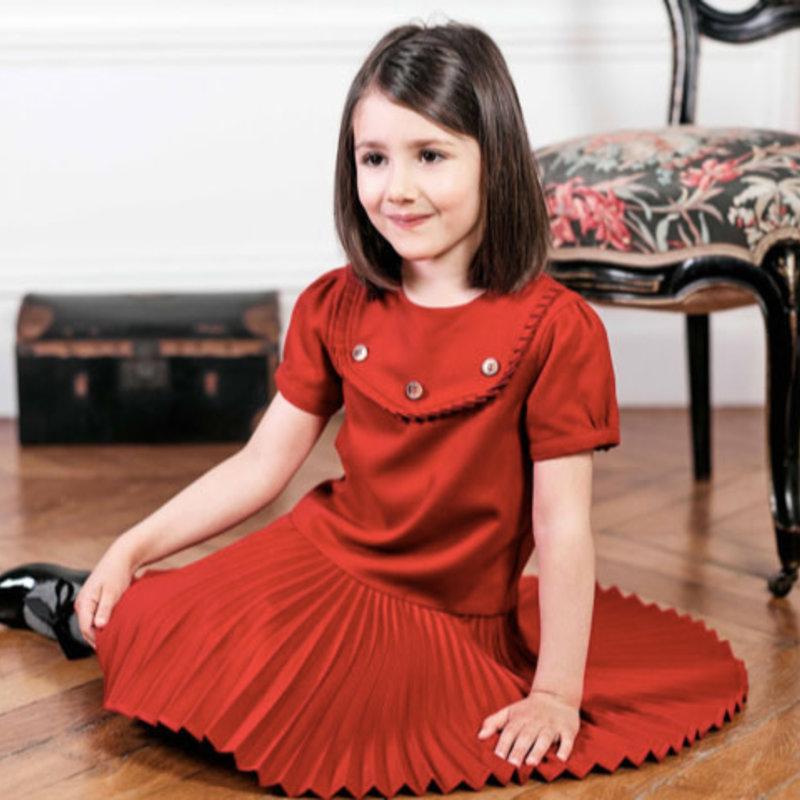 Tartine et Chocolat Tartine et Chocolat red pleated dress