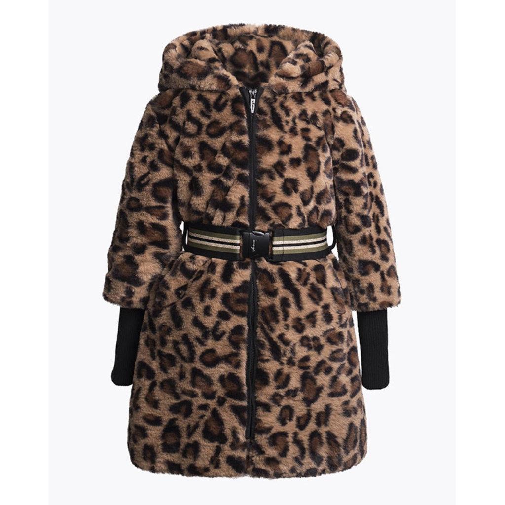 Imoga Imoga georgia leopard coat/hood