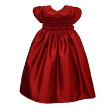 Isabel Garreton Isabel Garreton Red Silk Smock dress 4Y