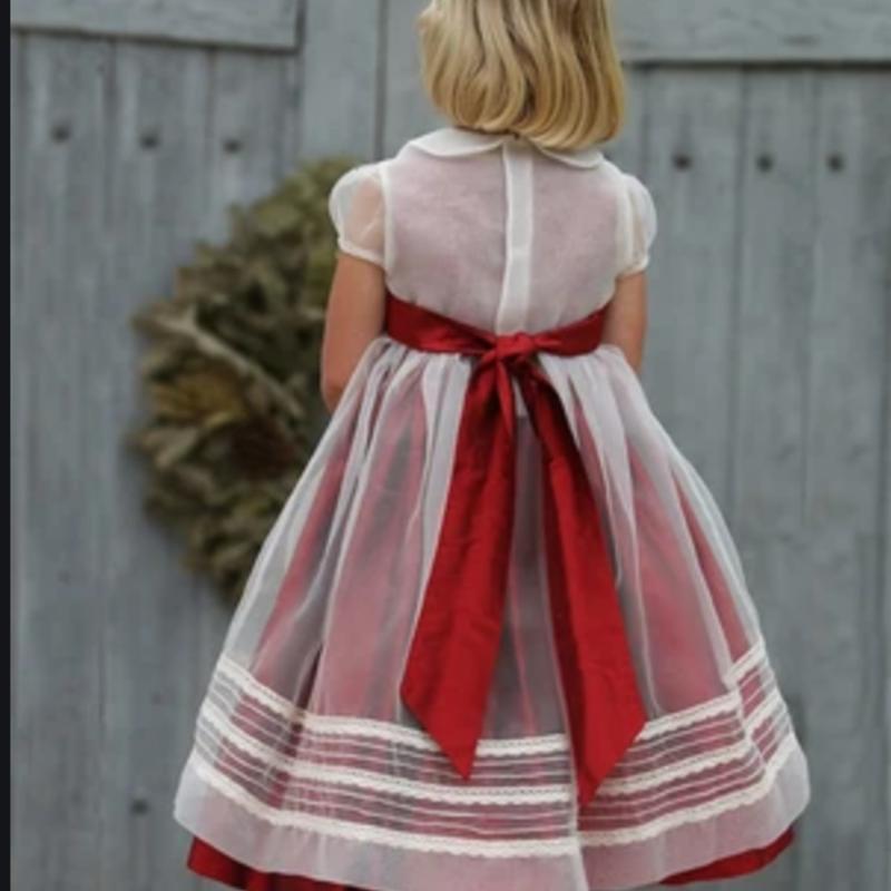 Isabel Garreton Isabel Garreton Dress Red w/Overlay 3T Silk